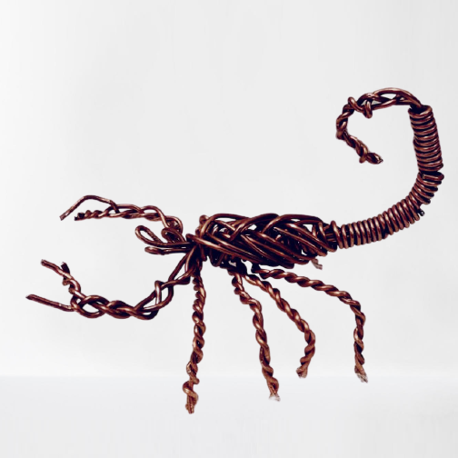 Scorpion Machine Wire Sculpture