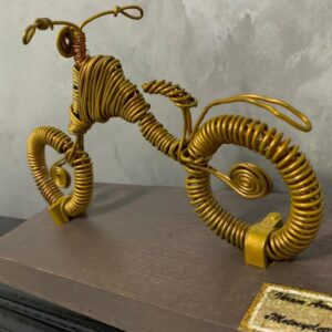 Vintage Motorcycle Wire Sculpture
