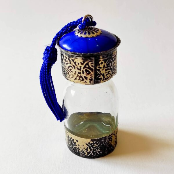 Blue Traditional Moroccan Bottles for Oils and Spices - Ouafra