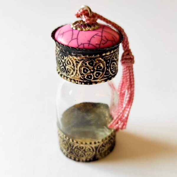 Pink Traditional Moroccan Bottles for Oils and Spices - Ouafra