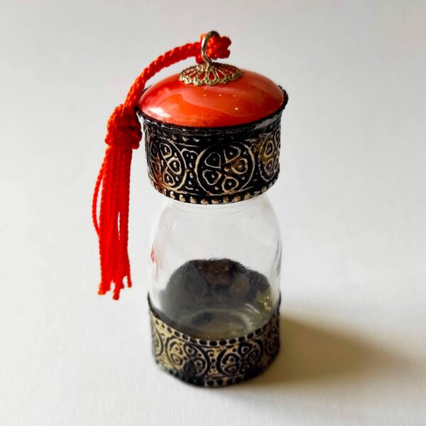Orange Traditional Moroccan Bottles for Oils and Spices - Ouafra