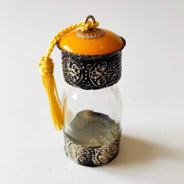 Yellow Traditional Moroccan Bottles for Oils and Spices - Ouafra