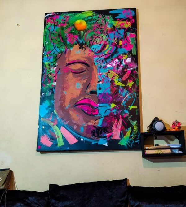 La Nostalgie, Acrylic and Oil Painting on Canvas by SOZA, 98cm x 56cm